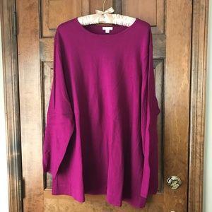 J. Jill Magenta Tunic Style Sweater 3X